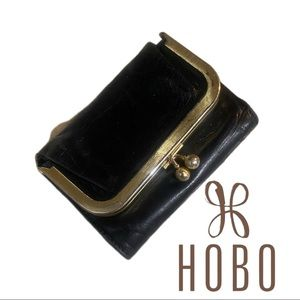 HOBO Black And Gold Coin Purse Wallet